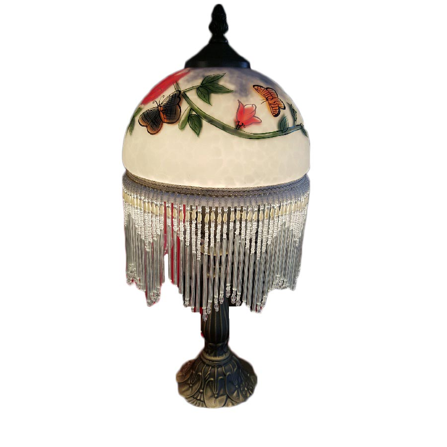 """Cosmos Gifts 8""""D Lamp/Butterfly Table Lamp"""