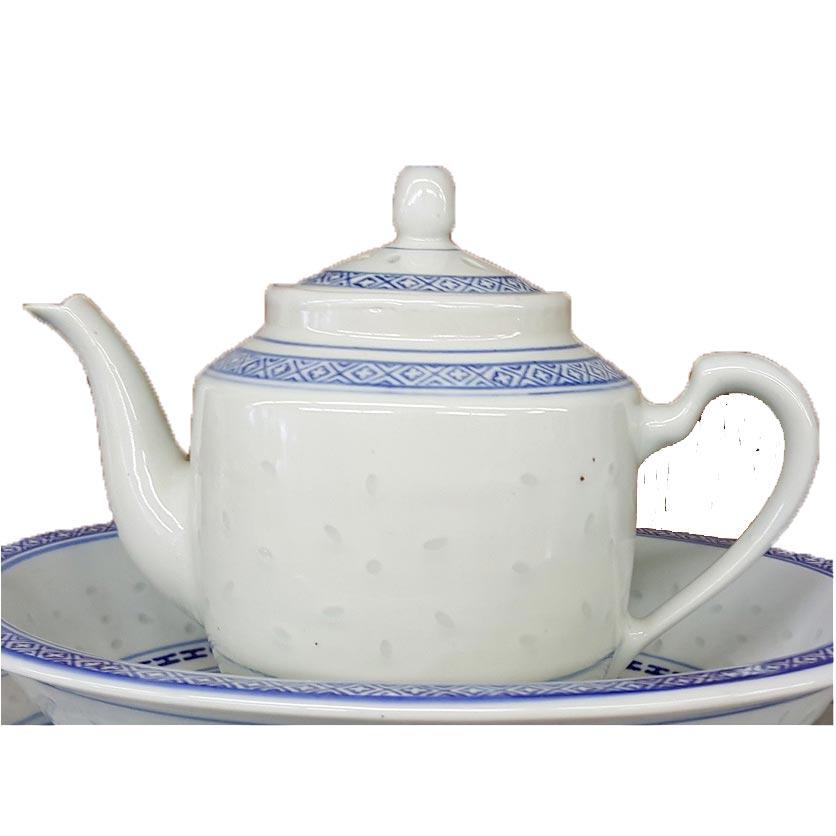 Chinese Rice Pattern Tea Pot