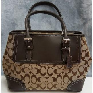 Coach Signature Jacquard Tote Handbag