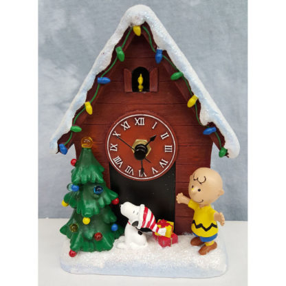 Roman LED Snoopy Clock Charlie Brown and Woodstock Christmas