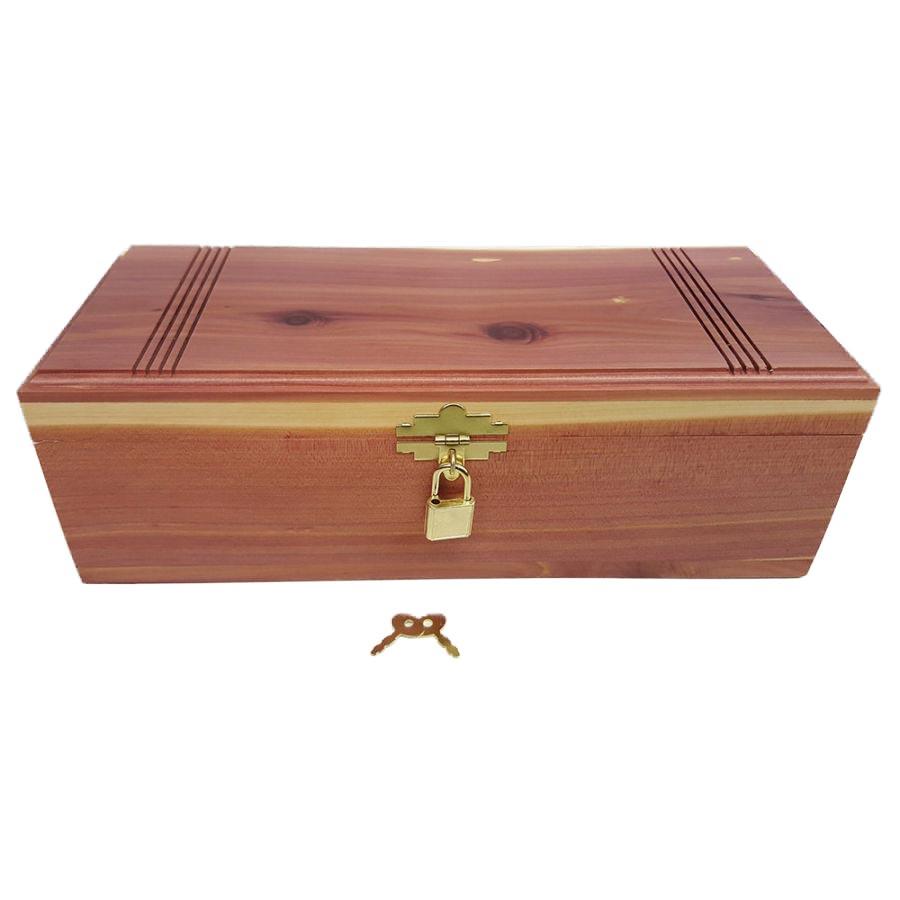 Big Chest with Lock Cedar Box