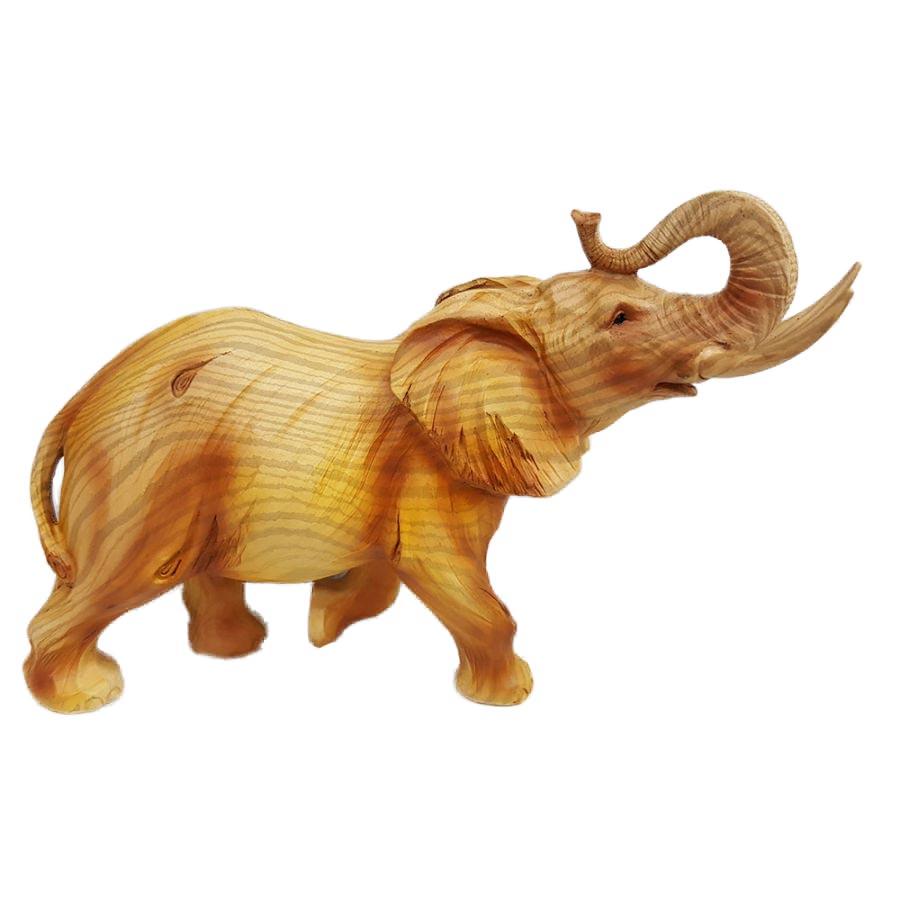 Porcelain Elephant Looks Like Wood