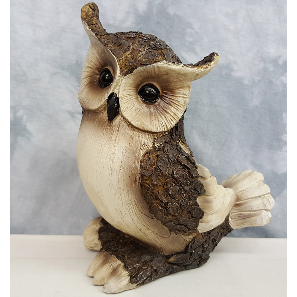 Young's Resin Owl Statue, 9-Inch