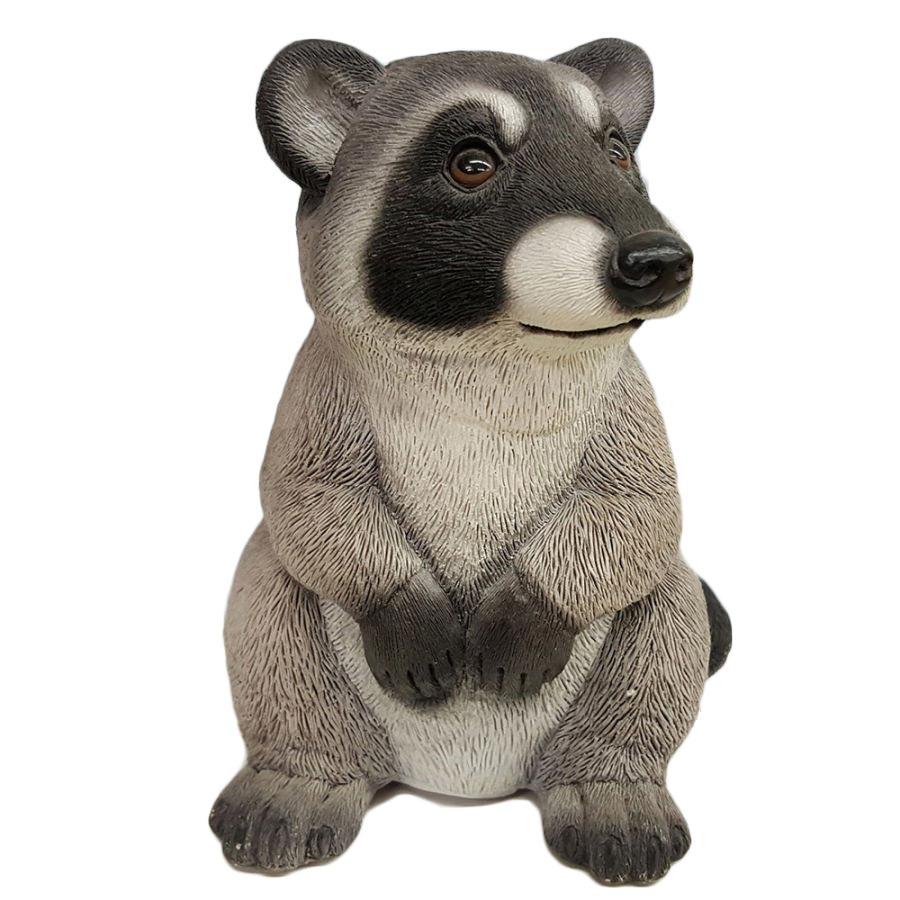 Porcelain Raccoon Coin Piggy Bank