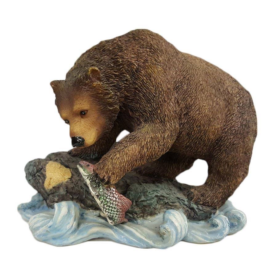Porcelain Bear Holding Fish