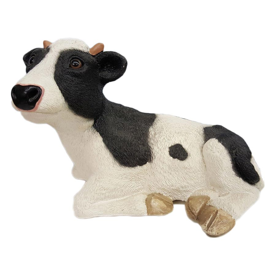 Black and White Porcelain Cow Coin Piggy Bank