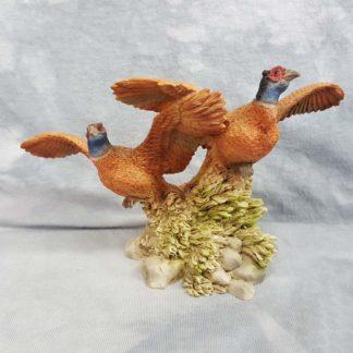 Vintage Castagna 2 Pheasant Figurine