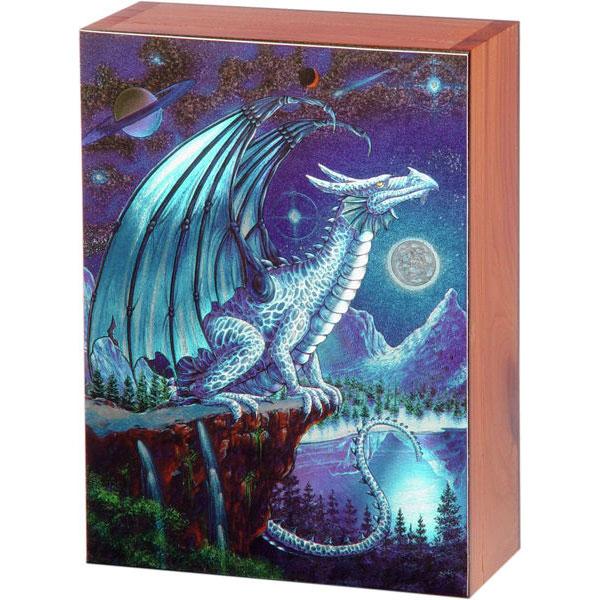 Ice Dragon Keepsake Jewelry Wood Cedar Box