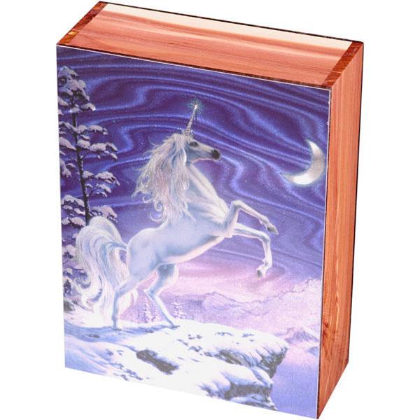 Moonlight Unicorn Keepsake Jewelry Wood Cedar Box