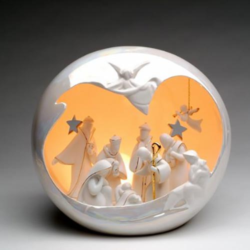 Appletree Design Large Globe Holy Family Night Light