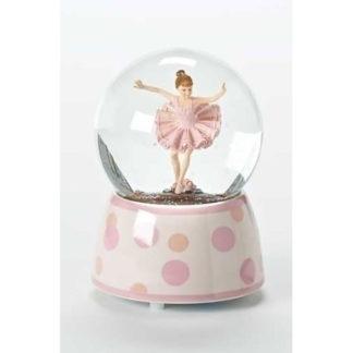 "5.75"" Ballerina Musical Glitterdome Swan Lake"