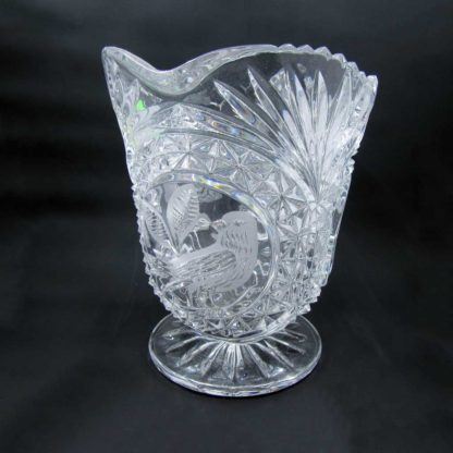 Hofbauer Lead Crystal Pitcher with bird