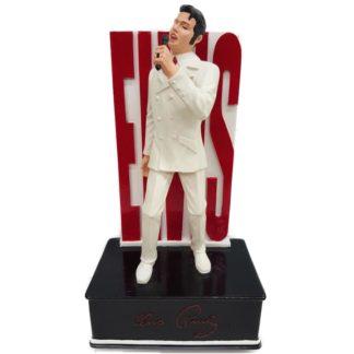 Dave Grossman White Elvis Presley Musical Figurine