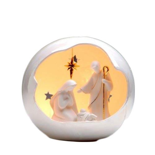 Appletree Design Medium Globe Holy Family Night Light