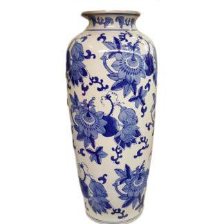 Delft Blue Large Vase with Flowers Design
