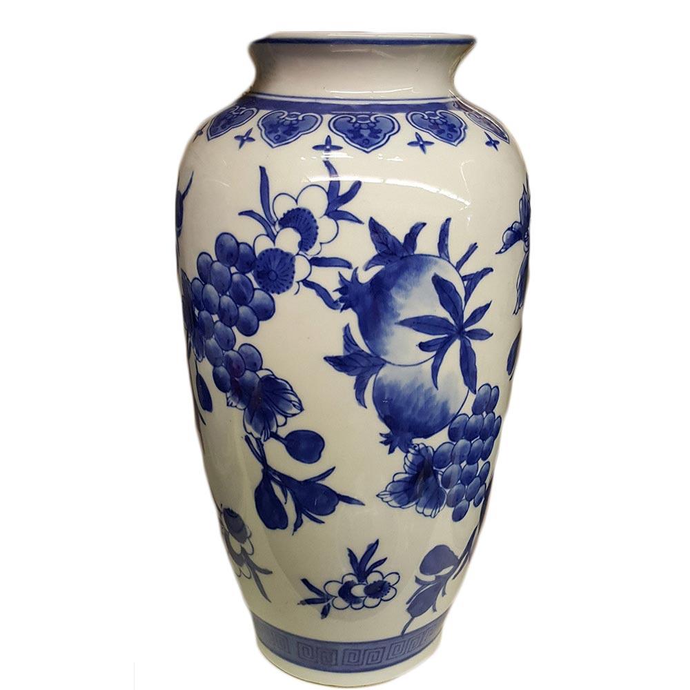 Delft Blue Medium Vase With Berries Design