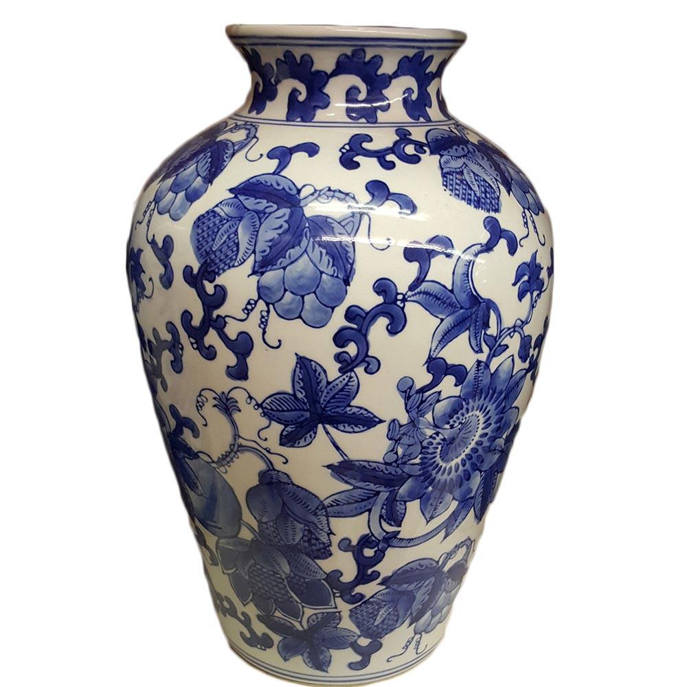 Delft Blue Medium Vase with Flowers