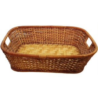Wicker Basket Rectangle with Handles