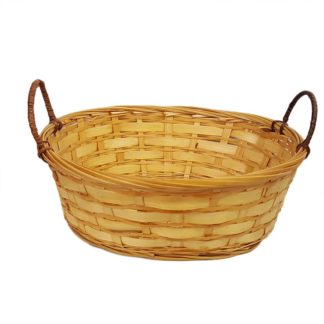 Wicker Basket Oval with Handles
