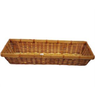 Wicker Basket Long Rectangle