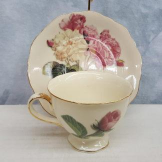 Burton and Burton Pink Rose Teacup & Saucer