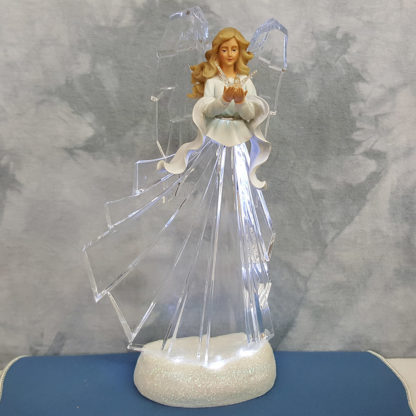 LED Lighted Angel with Dove Figurine