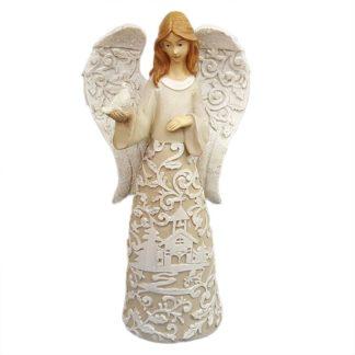 Roman Inc Paper Cut Look Angel Figurine Dove