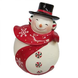 Appletree Design Snowman Ceramic Cookie Jar