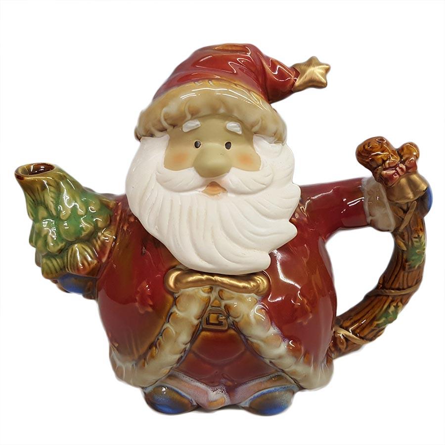 Burton and Burton Yuletide Charms Porcelain Santa Teapot