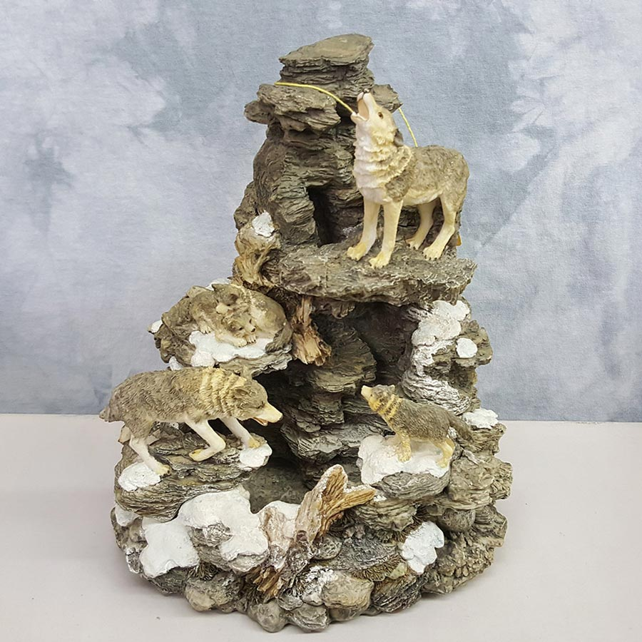 Westland Giftware Wolves Water Fountain