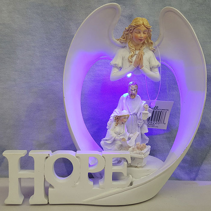 Angel Wings Of Hope Nativity White