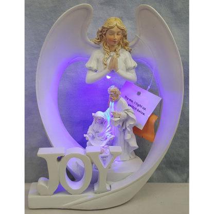 Angel Wings Of Joy Nativity White