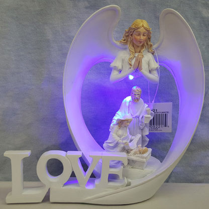 Angel Wings Of Love Nativity White