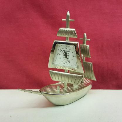 Sanis Enterprises Silver Ship Desk Clock