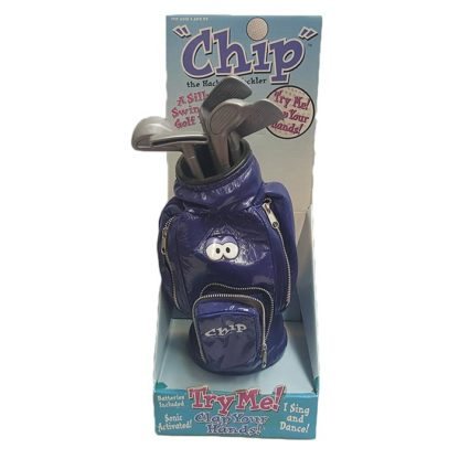 Chip the Hacker's Heckler A Silly Swinging Golf Bag
