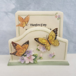 Butterfly Coaster Set with Corinthians Verse