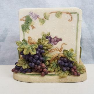 Porcelain Grapes and Ivy Coaster Set