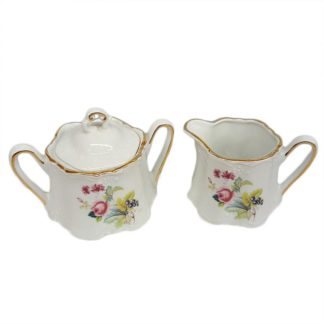 Winrose Collection Porcelain Creamer and Sugar Set