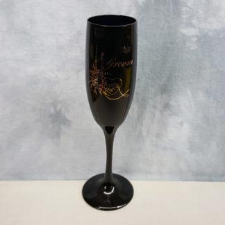 Hortense B Hewitt Groom Champagne Flute Black
