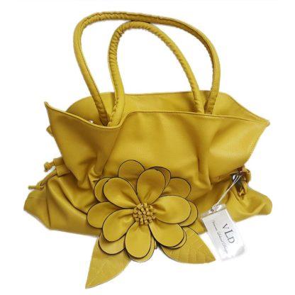 VLD Yellow Handbag with Flower