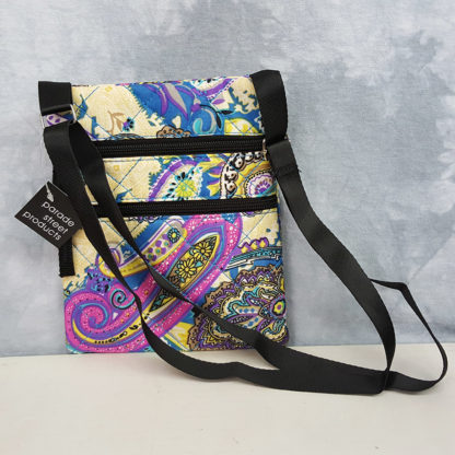 Parade Street Products Paisley Crossover Bag Blue