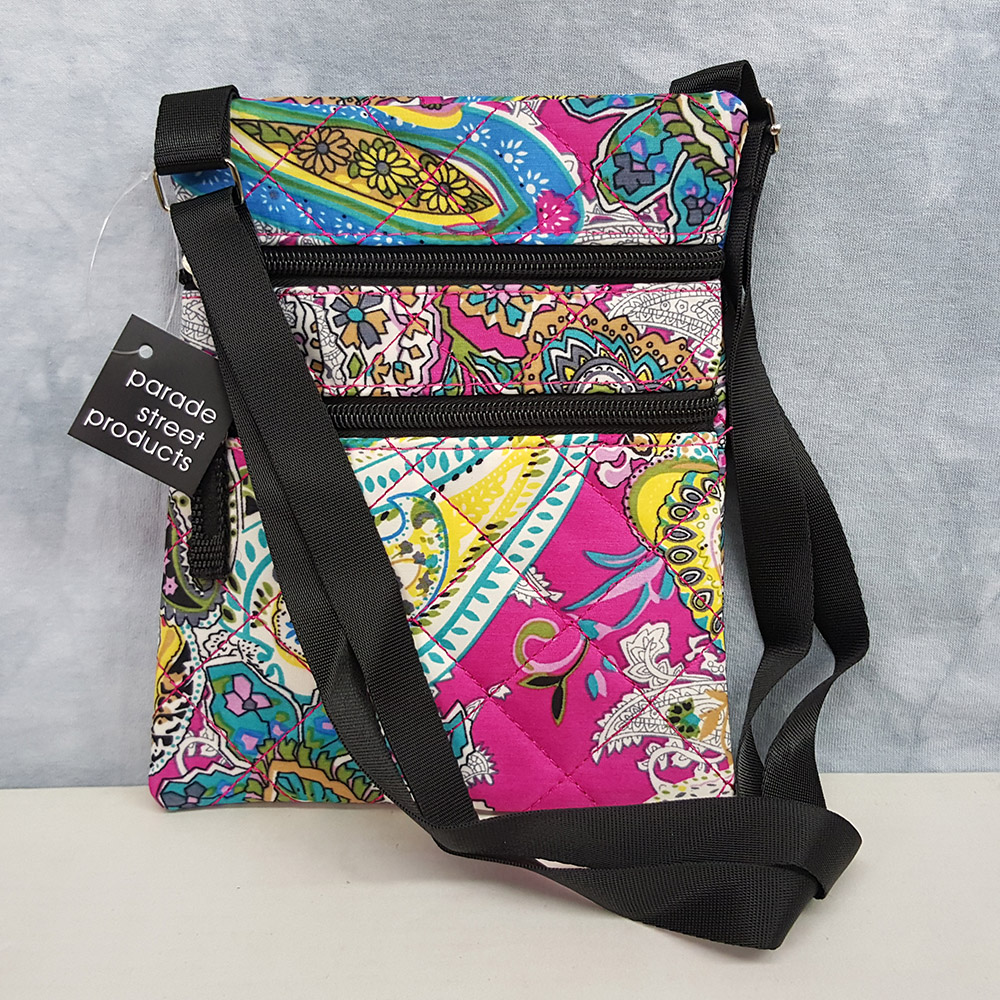 Parade Street Products Paisley Crossover Bag Purple