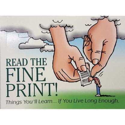 Read the Fine Print: Things You'll Learn If You Love Long Enough by Richard Thompson