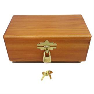 Keepsake Jewelry Wood Cedar Box with Lock