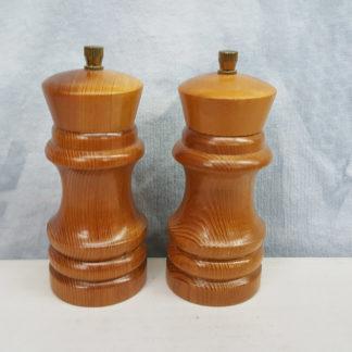Light Wood Salt and Pepper Mill Set