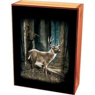 Deep Woods Buck Keepsake Jewelry Wood Cedar Box