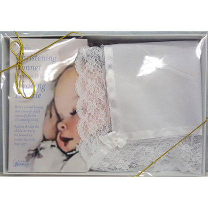 Deluxe Baby Christening Bonnet / Hanky For Wedding