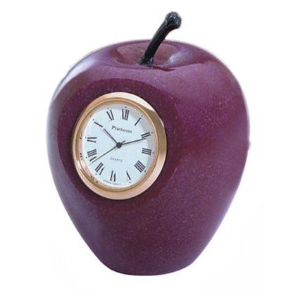 Sanis Enterprises Marble Red Apple Desk Clock