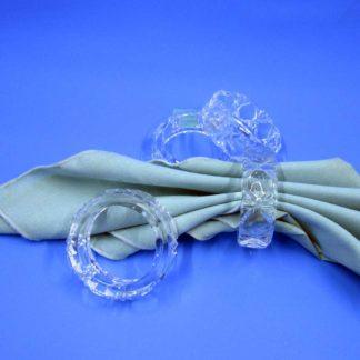 Round Crystal Napkin Rings Set of 4
