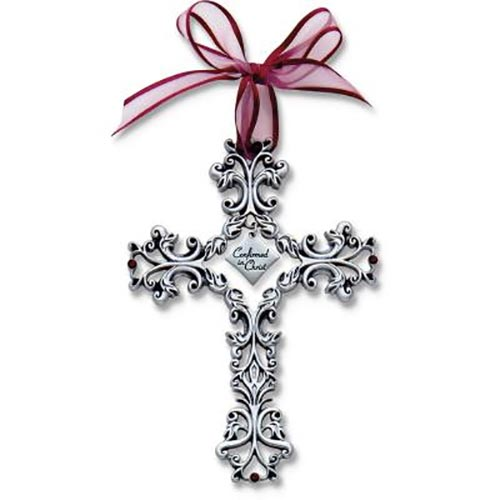 Cathedral Art Confirmation Filigree Cross with Purple Ribbon